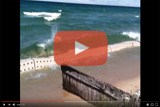 Rotomolded Beach Erosion Barrier, Beach Erosion Solution